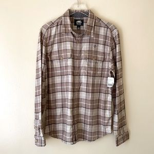 NWT Roots Long Sleeve Plaid Flannel Shirt